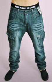 Distressed Dark Denim Jeans